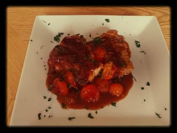 Orange Glazed Salmon With Tomato Recipe