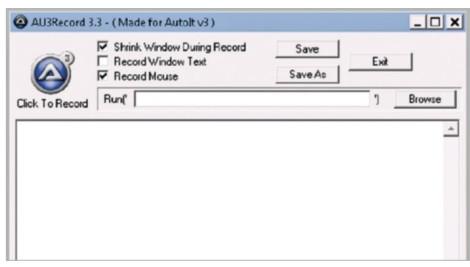 Figure 1: Autolt recorder window