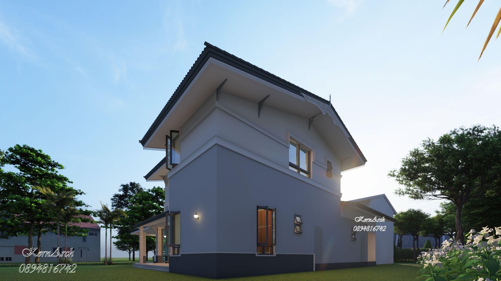รับออกแบบต่อเติมบ้านพักอาศัย 2 ชั้นสไตล์โคโรเนียล เจ้าของอาคารคุณปวริศ ศรีนวล สถานที่ก่อสร้างแขวงจอมพล เขตจตุจักร กรุงเทพฯ รับเหมาก่อสร้างโดย บ.นิธรัช รับสร้างบ้าน