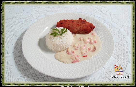Peixe com molho de camarão 2