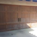 Garage door heavy sun damage