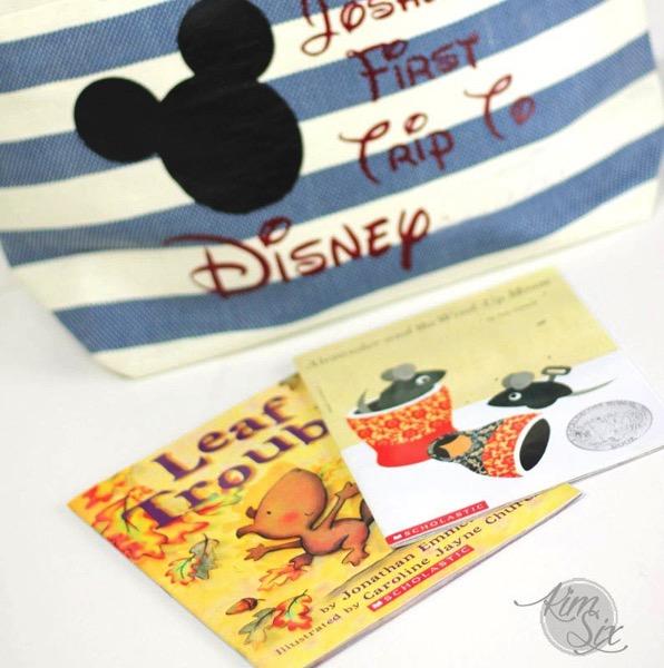 Packing Books for Disneyland trip2