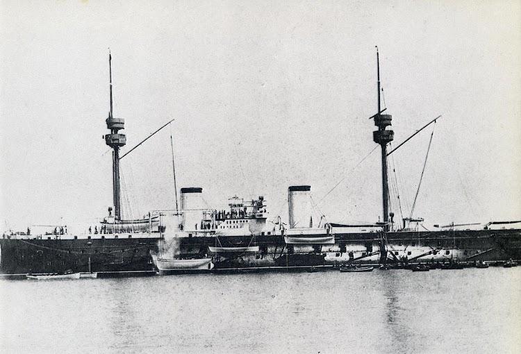 13- El PELAYO en estado de origen. Del libro La Armada Española.JPG