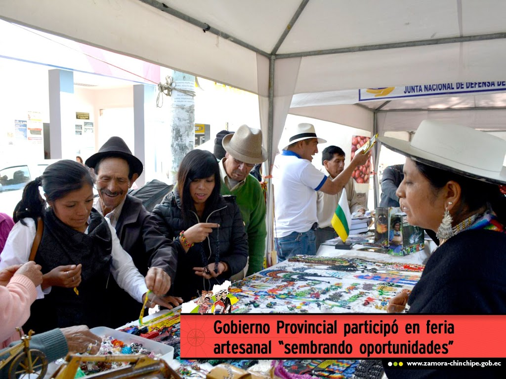 """GOBIERNO PROVINCIAL PARTICIPÓ EN FERIA ARTESANAL""""SEMBRANDO OPORTUNIDADES PRODUCTIVAS"""""""