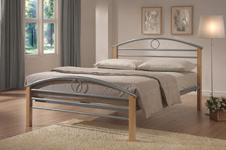 Amazing LB wood u silver bed frame available sizes