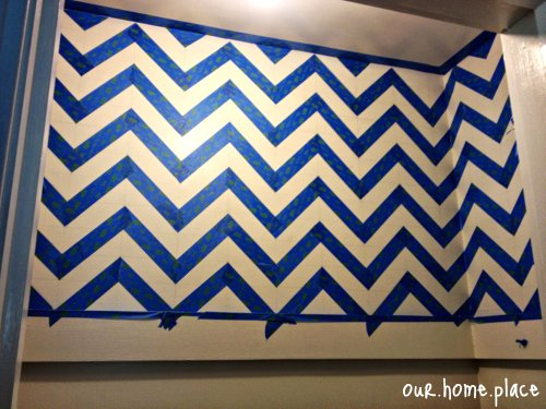 Chevron Wall Taping
