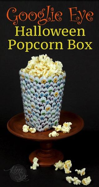 Googlie Eye Covered Popcorn Box