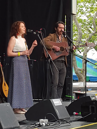Nuala Kennedy and Eamon O'Leary. From Everything You Need to Know about the Newfoundland Folk Festival
