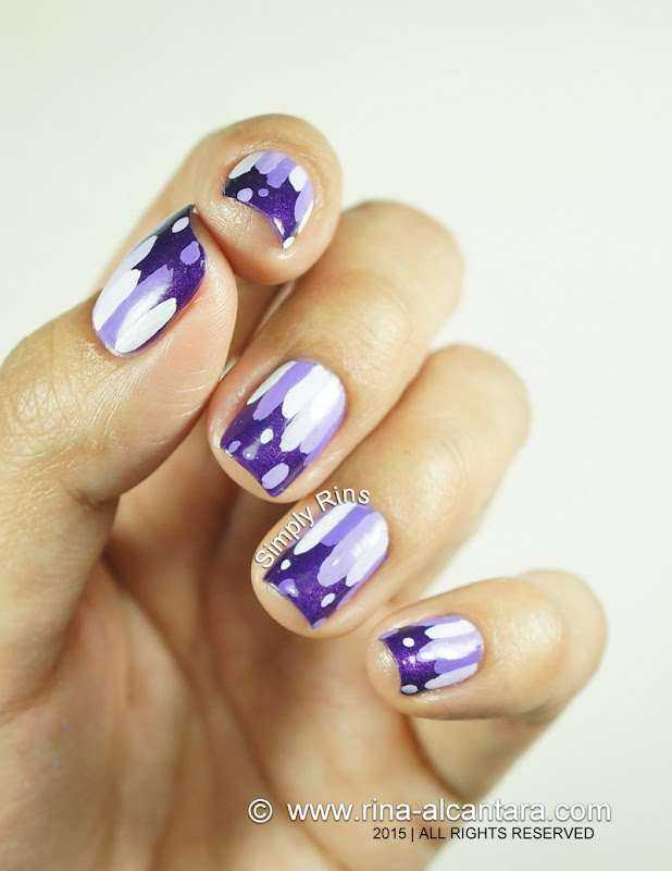 Nail Art: Violets are Blue by Simply Rins