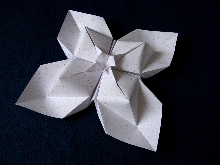 Origami foto Fiore a rombi - Diamond flower by Francesco guarnieri