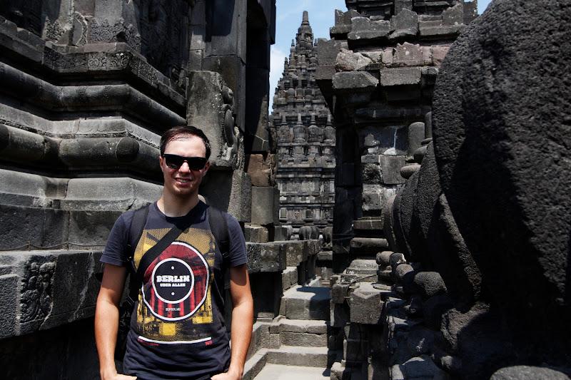 En un templo de Prambanan