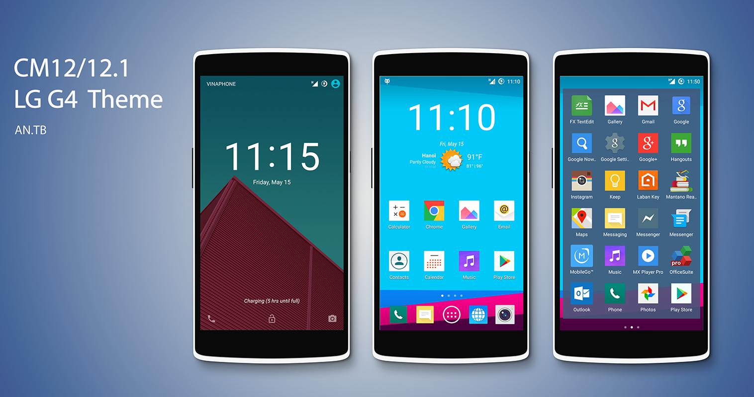 CM12/12.1 LG G4 Theme - screenshot