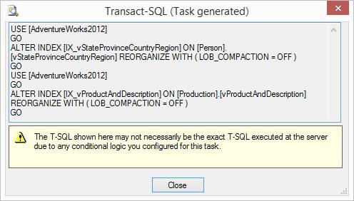 Generated TSQL