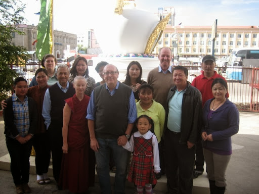 Staff of FPMT Mongolia and Ganden Do Ngag Shedrup Ling in Ulaanbaatar, Mongolia, 2012. Photo courtesy of Massimo Corona.