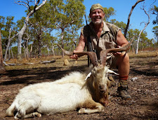 Kevin Walkup with a good trophy goat, about 37 inches