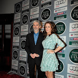 WWW.ENTSIMAGES.COM -     Damon Hill Natalie Pinkham    arriving at    Motor Sport Hall Of Fame at Royal Opera House Covent Garden London February 25th 2013                                                    Photo Mobis Photos/OIC 0203 174 1069