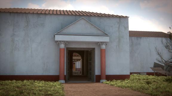 """Entrada principal a la Villa Romana """"El Ruedo"""""""