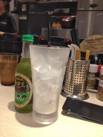 Ramen Keisuke Gyoza King, green tea cola