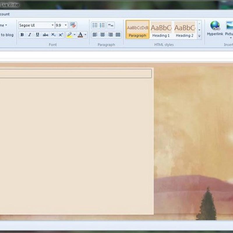 Come ripristinare Windows Live Writer, il programma più usato dai blogger per scrivere gli articoli.
