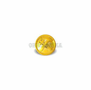 Гудзик Залізниця малий 14 мм золотий