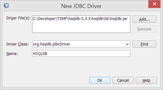 JDBC driver para HSQLDB