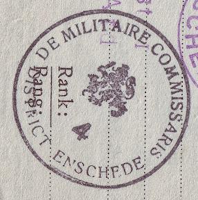 Stempel - De militaire commissaris district Enschede http://www.secondworldwar.nl/enschede/