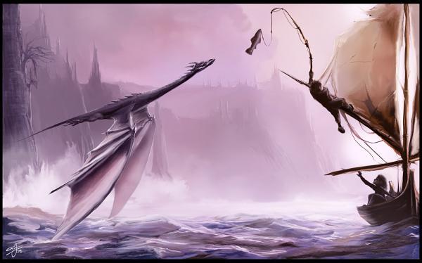 Dragon Attacking A Boat, Spirit Companion 4