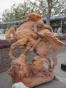 Animal, Exterior, Horses, Ideas, Natural Stone, Statues, Winged