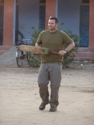 Cricket in the village, India