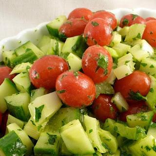 Lebanese Cucumber, Tomato & Celery Salad.