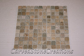1x1, Flooring, Flooring & Mosaics, Interior, Mosaic, Natural, Quartzite, Serengeti Gold, Stone, Tile, Tumbled
