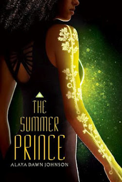 Cover image The Summer Prince, a black girl in profile with a light tree tattoo on her arm