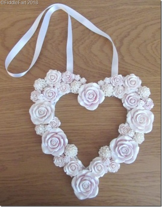 Rose heart garland wedding day gift for bride