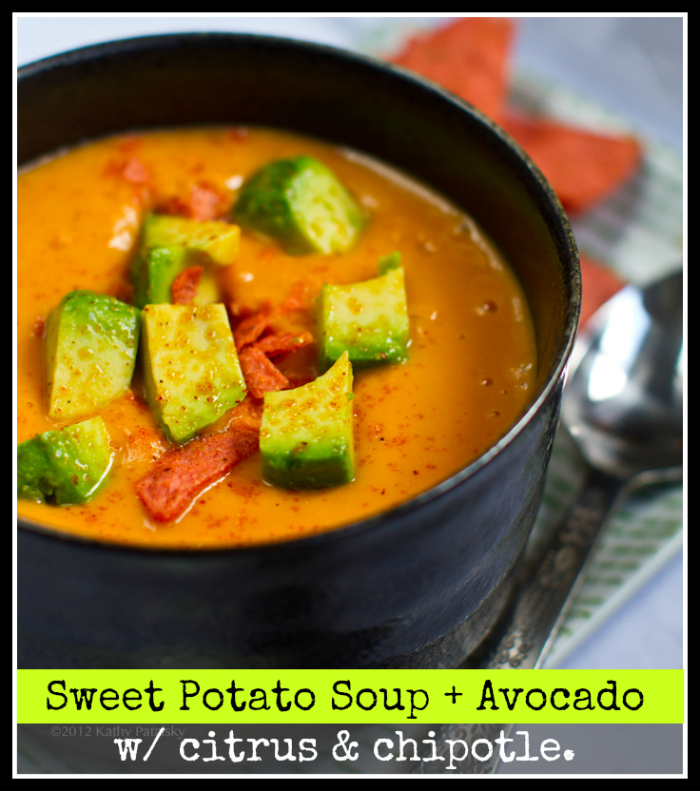 Sweet Potato Soup (in A Flash!) Avocado On Top. Chipotle