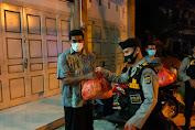 Patroli Skala Besar Di Banda Aceh, Lagi Bagikan Puluhan Paket Sembako