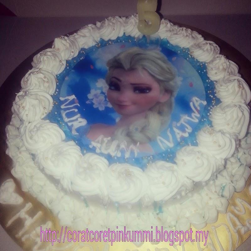 Kek Frozen Sempena Hari Lahir Auni