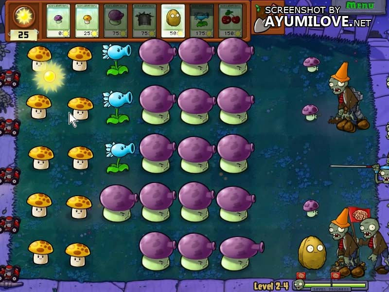 Plants vs Zombies Stage 2-4 Layout