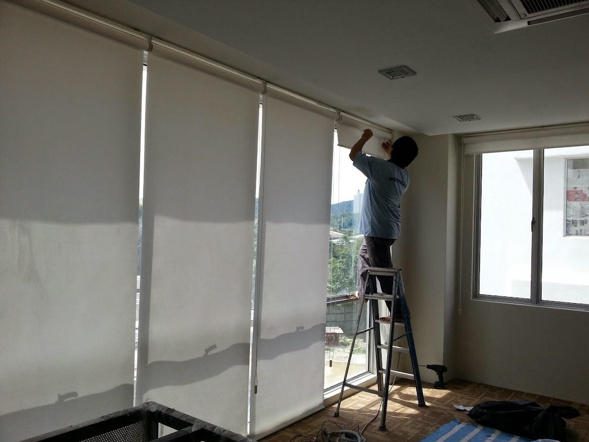 install roller blind