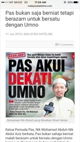 Image result for UMNO-PAS bentuk Kerajaan Perpaduan...