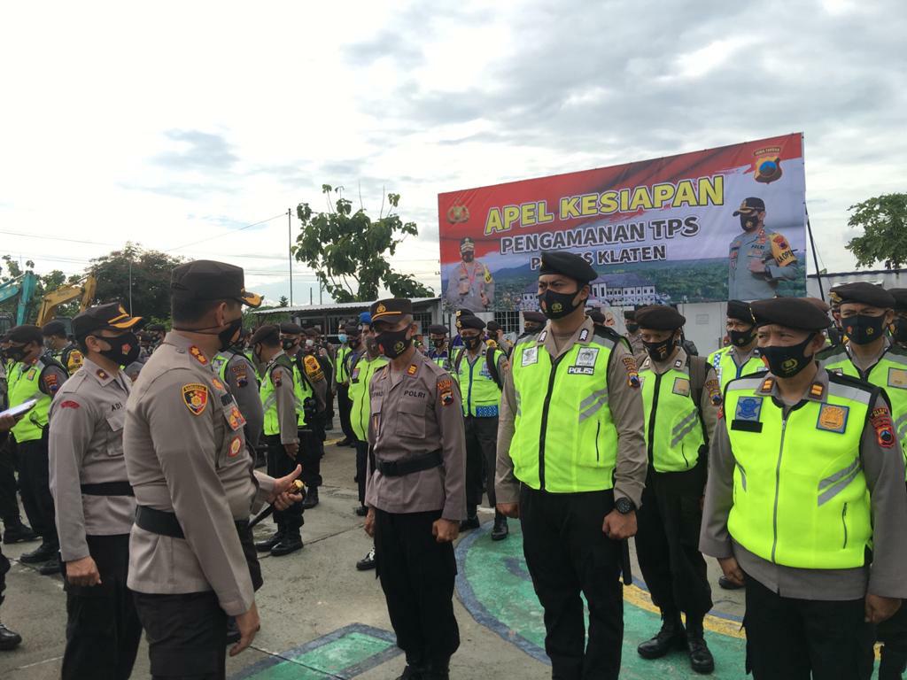 Terjunkan 638 Personel Polres Klaten Gelar Apel Kesiapan Pengamanan TPS Pilkada Serentak 9 Desember 2020