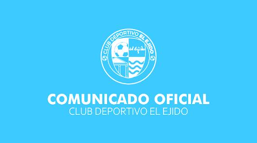 Comunicado del CD El Ejido: hay nuevo entrenador