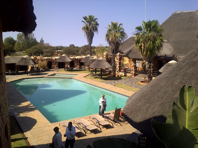 Tish by the pool at Big Five Lodge