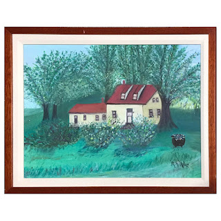 Mildred McLean Signed Folk Art Painting