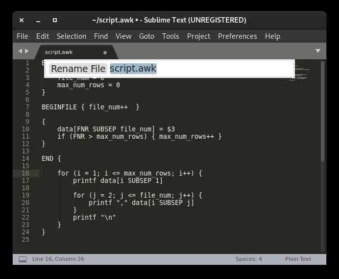Linux Text Editors Sublime Command Palette