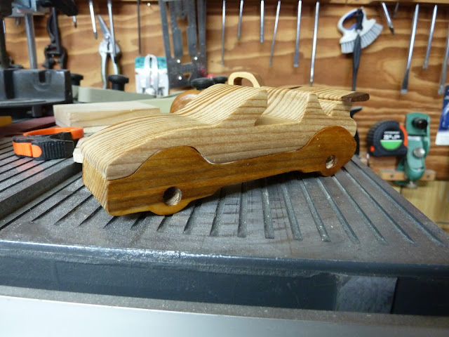 "Handmade Wood Toy Car ""Speedy Wheels Series"" Convertable"