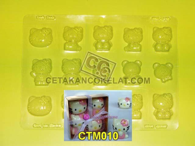 cetakan coklat cokelat hello kitty CTM010 CTM10 CTM