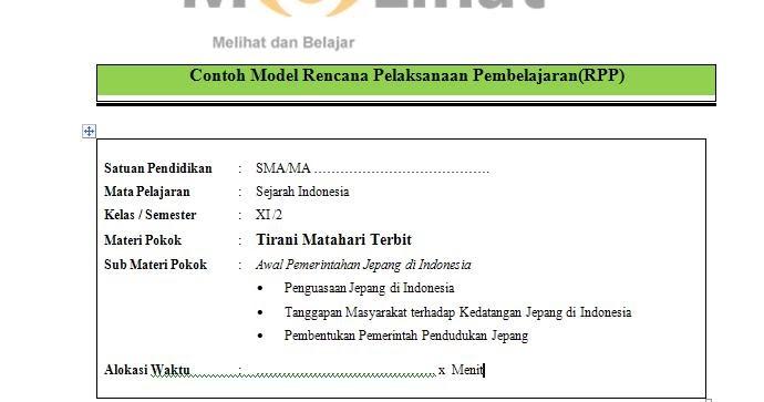 Rpp Sejarah Indonesia Sma Ma Kurikulum 2013 Kelas Xi 11 Terbaru Filenya