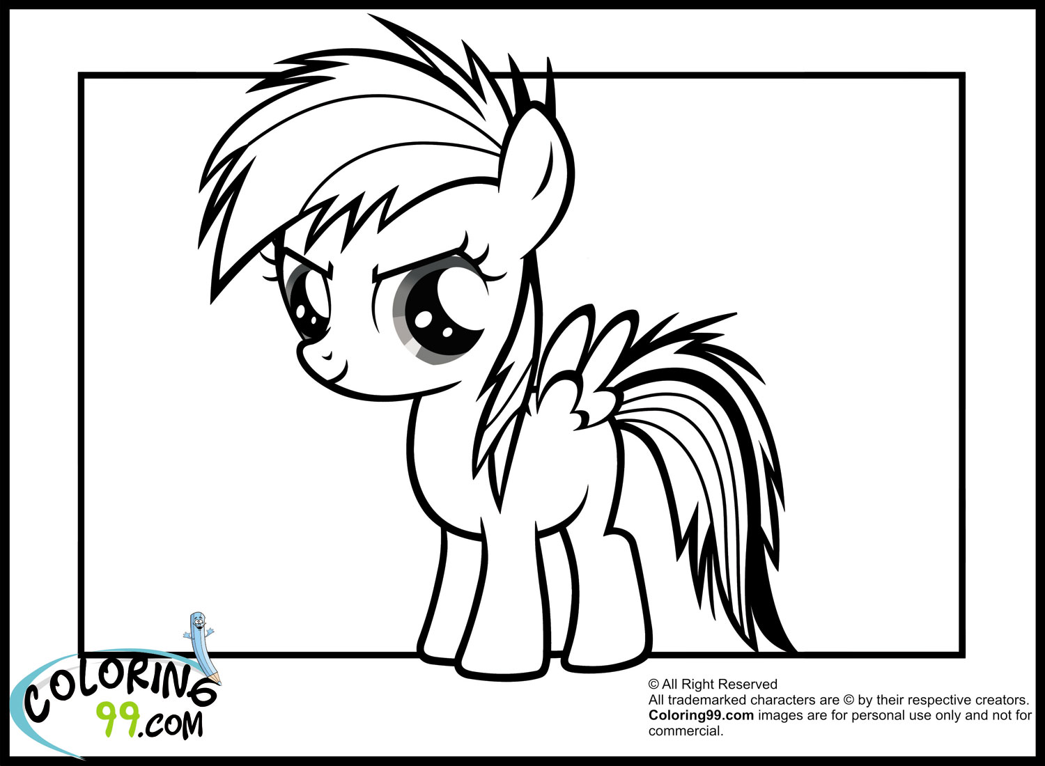 My Little Pony Coloring Pages Rainbow Dash Games Coloring Page