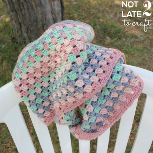 Not 2 late to craft: Coll granny de ganxet d'Annaboo's House / Annaboo's Granny stripe cowl