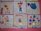 dettaglio, opera dei bambini della scuola d'infanzia di Ficulle: parete sonante